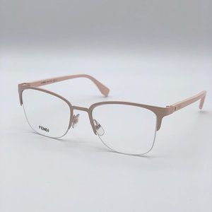 💯 NEW Fendi FF 0321 08KJ/00 Women Pink Eyeglasses
